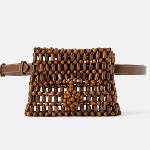 GORGEOUS NWT Zara Wood Bead Belt Bag - Funny bag